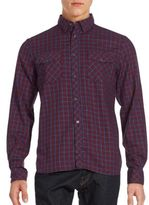 French Connection Eddie Checked Cotton Button-Down Shirt