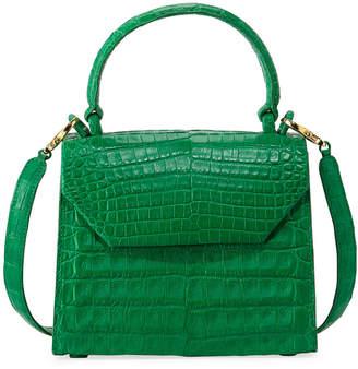 Nancy Gonzalez Crocodile Small Flap Top-Handle Crossbody Bag