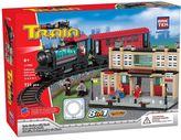 BricTek 8-in-1 Train Station & Track