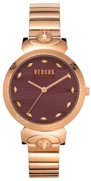 Versus By Versace Women's Marion Rose Gold-Tone Stainless Steel Bracelet Watch 36mm
