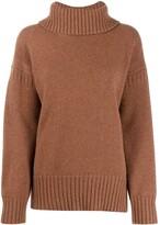 Pringle Guernsey stitch roll neck sweater