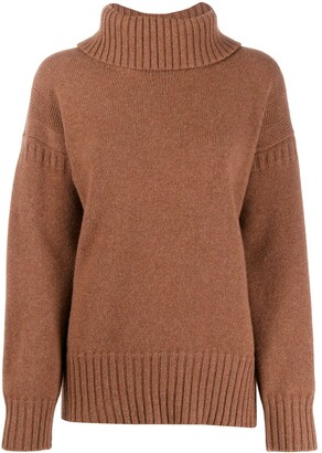 Pringle Guernsey stitch roll neck sweater