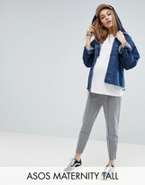 Asos Tall Marl Track Pants With Zip Sides