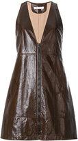 Chloé V plunge zip mini dress