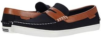 Cole Haan Pinch Weekender Loafer (Black Canvas/British Tan) Men's Shoes