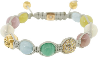 Shamballa Emerald, Aquamarine, Opal Bead Bracelet