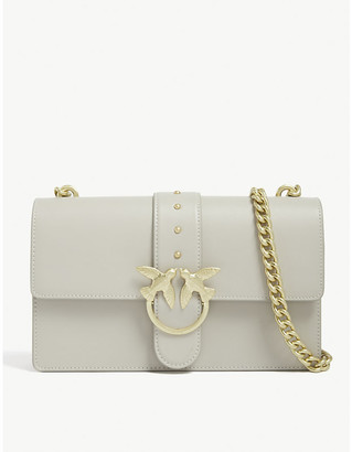 Pinko Love Simply leather shoulder bag