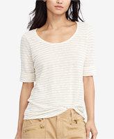 Lauren Ralph Lauren Striped Linen T-Shirt