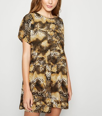 New Look Blue Vanilla Animal Print Smock Dress