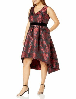 Eliza J Women's Size Floral Fit and Flare Dress