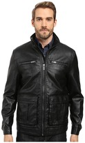 Kenneth Cole New York Pebble Leather PU Jacket
