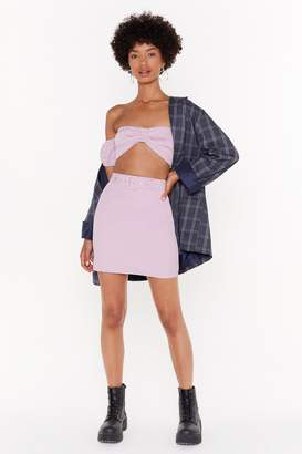 Nasty Gal Womens Buckle It High-Waisted Mini Skirt - Pink - 10