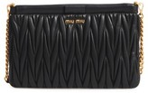 Miu Miu Matelasse Leather Clutch - Black