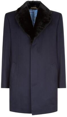 Zilli Vicuna Coat With Mink Collar
