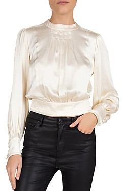 The Kooples Shiny Vanilla Cropped Top
