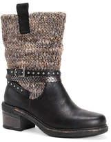 Muk Luks Womens Kim Block Heel Dress Boots
