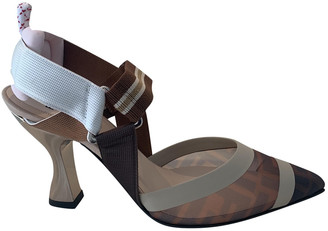 Fendi Colibri Brown Rubber Heels