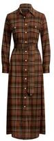 Thumbnail for your product : Ralph Lauren Tartan Plaid Maxi Shirtdress