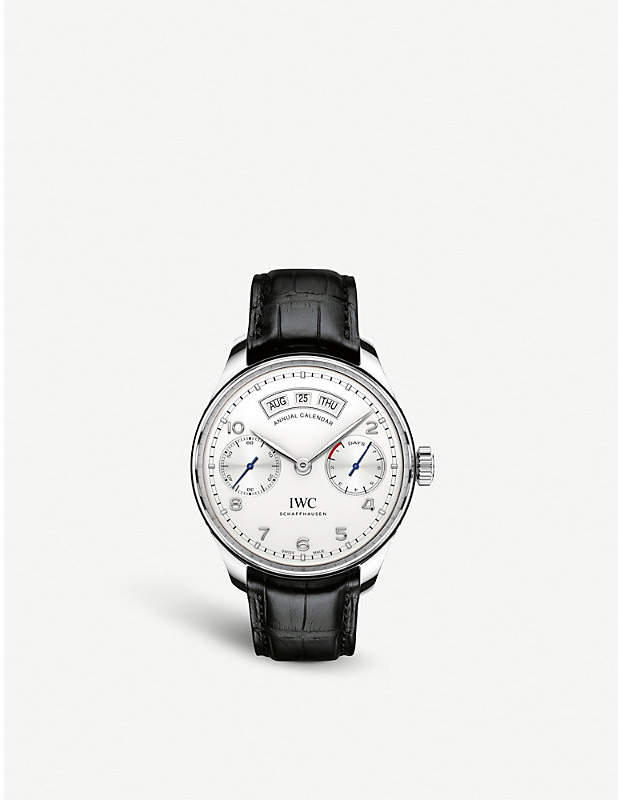 IWC IW503501 Portugieser alligator-leather watch