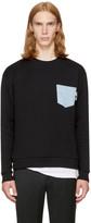 Versus Black Denim Pocket Safety Pin Sweatshirt