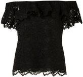 Rebecca Taylor off-the-shoulder lace tank - women - Cotton/Nylon/Polyester/Rayon - 2