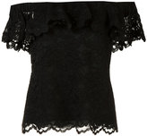Rebecca Taylor off-the-shoulder lace tank