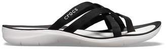 Crocs Womens Swiftwater Webbing Flip-Flops