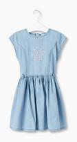 Esprit Embroidered denim dress