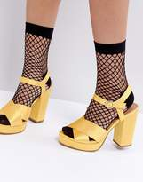 Asos Oversized Fishnet Ankle Socks With Re-enforced Heel