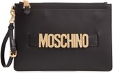 Moschino Embellished Logo Clutch