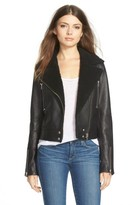Paige Women's 'Rooney' Leather Jacket With Faux Shearling Collar