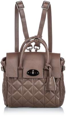 Mulberry Brown Quilted Cara Delevigne Backpack