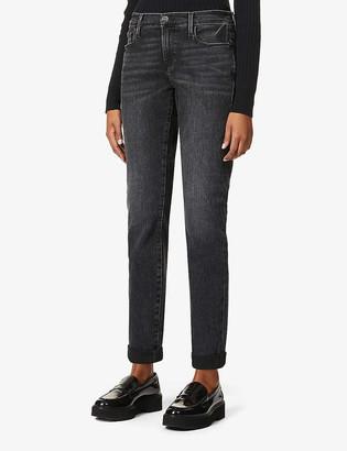 Frame Le Garcon straight-leg mid-rise stretch-denim jeans