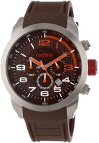 Redline red line Men's RL-60003 Overdrive Chronograph Textured Dial Silicone Watch