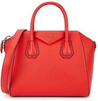 Givenchy Antigona Small Red Leather Top Handle Bag