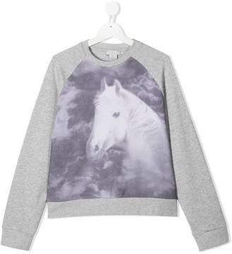 Stella McCartney Kids TEEN horse print sweatshirt