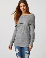 Le Château Knit Cowl Neck Tunic Sweater