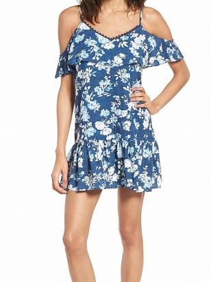 Speechless Women's Floral Cold Shoulder Shift Dress