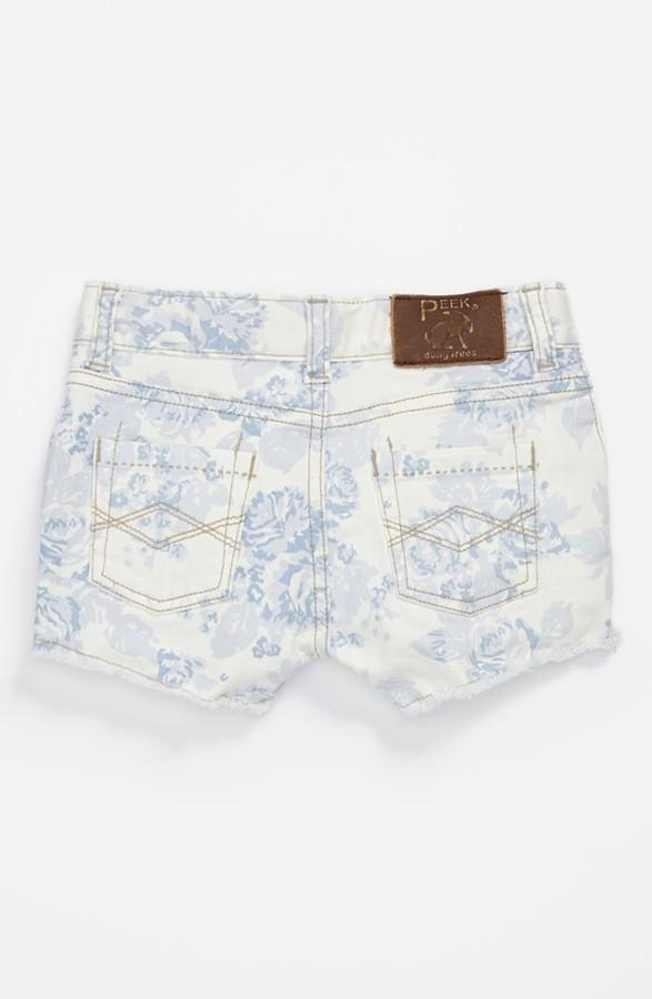 Peek 'New Morgan' Denim Shorts (Toddler, Little Girls & Big Girls) Floral 2