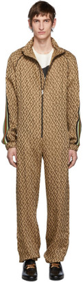 Gucci Brown G Rhombus Jumpsuit