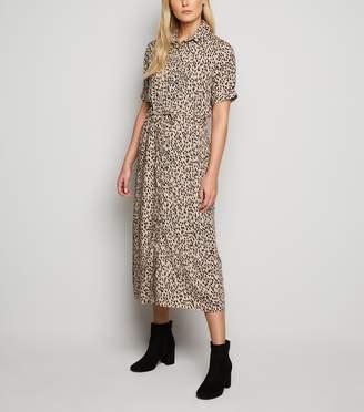 New Look Tall Spot Midi Shirt Dress