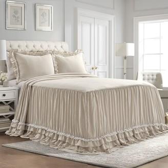 Lush Decor Ella Shabby Chic Ruffle Lace Bedspread 3-pc Set