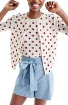 J.Crew Women's Sequin Polka Dot Cardigan