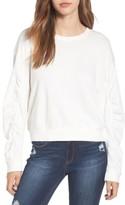 BP Women's Ruched Sleeve Sweatshirt