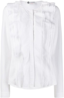 Lanvin Long Sleeve Ruffled Shirt