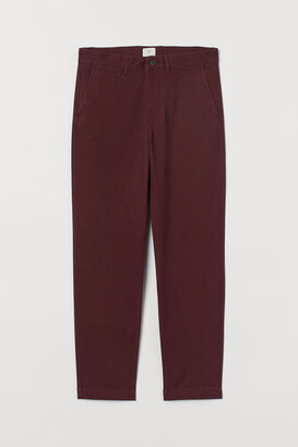H&M Slim Fit Chinos - Red