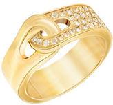 Swarovski Gallon 23K Goldplated and Crystal PVD Ring
