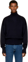 Loewe Navy Cotton & Wool Turtleneck