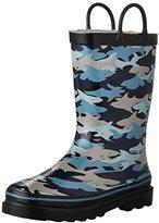 Western Chief Kids' Shark Chomp Rain K Pull-On Boot