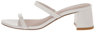 Basque Olivia White Patent Leather Sandal